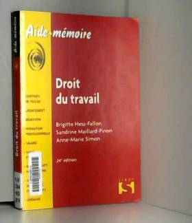 Brigitte Hess-Fallon, Sandrine Maillard-Pinon... - Droit du travail - 24e éd.