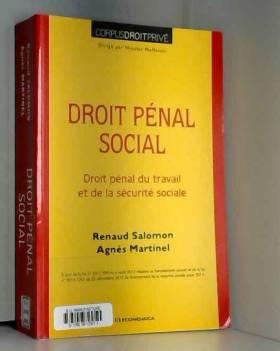 Droit pénal social : Droit...