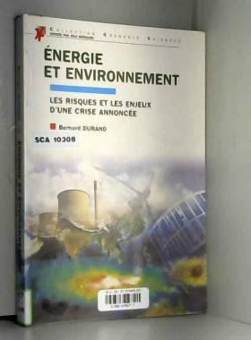 Energie et environnement :...