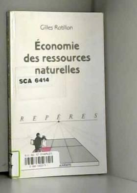 Economie des ressources...