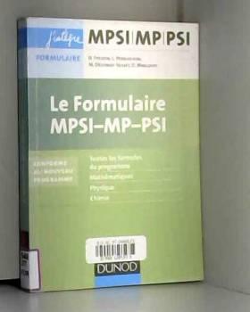 Le formulaire MPSI-MP - 5e...
