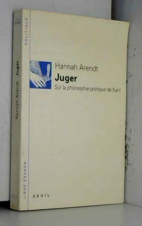 Juger : Sur la philosophie...