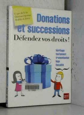 Donations et successions,...