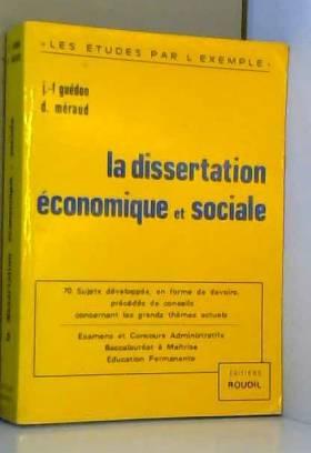 La Dissertation économique...