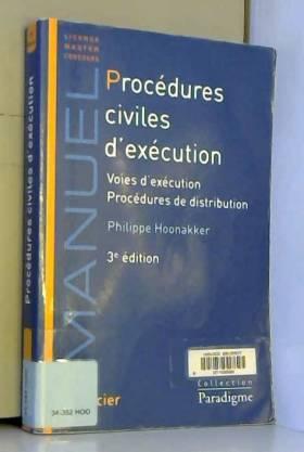 Philippe Hoonekker - Procédures civiles d'exécution