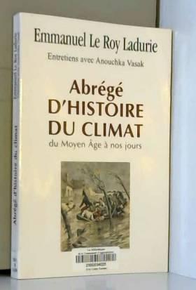 Abrégé d'histoire du climat...