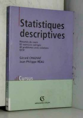 Gérard Chauvat et Jean-Philippe Réau - Statistiques descriptives
