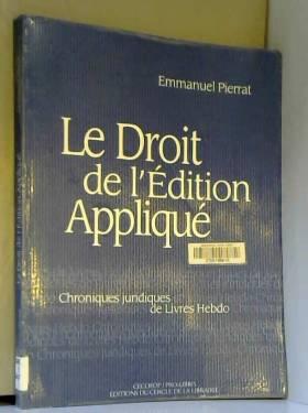 Le Droit de l'édition...