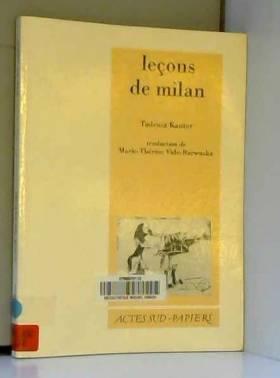 Leçons de Milan