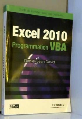Excel 2010, programmation VBA