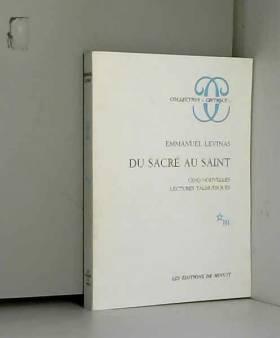 Du sacré au saint, cinq...