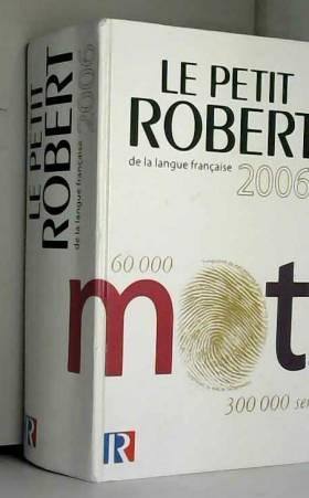 Le Petit Robert de la...