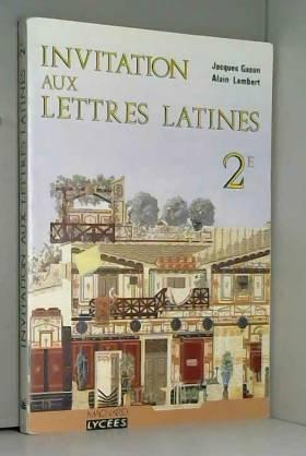 Invitation aux lettres latines