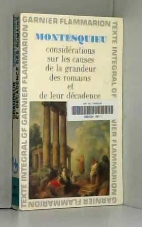 Montesquieu. Considérations...
