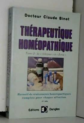 Thérapeutique homéopathique...