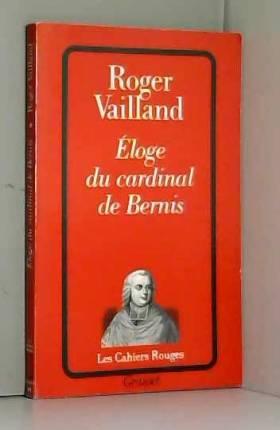 Éloge du cardinal de Bernis