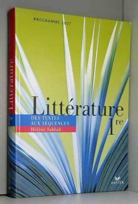Littérature 1e : Des textes...