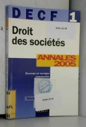 Droit des sociétés DECF 1 :...