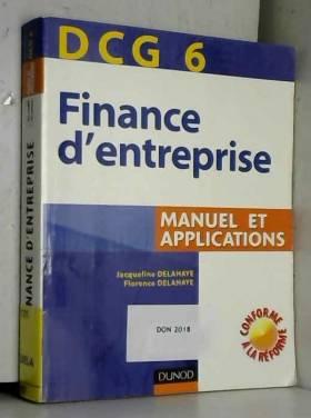Finance d'entreprise DCG6 :...