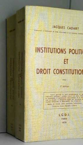 Institutions politiques et...