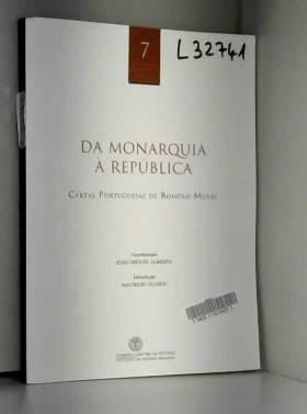 Da Monarquia à República: Cartas Portuguesas de Romolo Murri