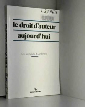 Lamberterie I - Droit d'Auteur Aujourd'Hui