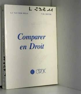 A. J. van der Helm - Comparer en droit: Essai méthodologique