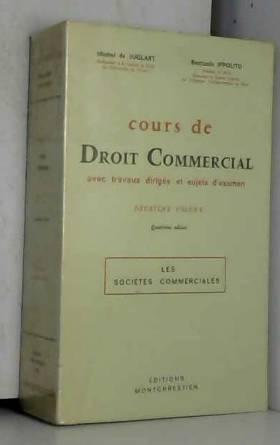 COURS DE DROIT COMMERCIAL....