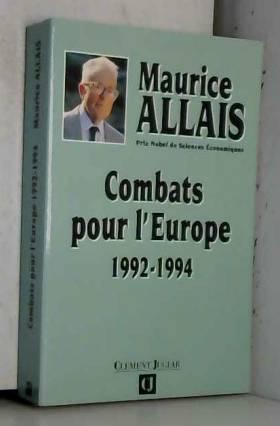 Combats pour l'Europe,...