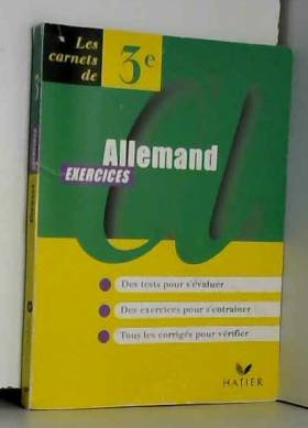 Janitza, Rhamat et Visel - Allemand, 3e, carnet d'exercices