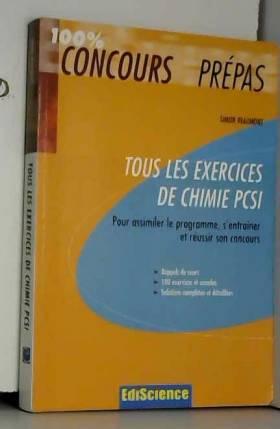Simon Beaumont - Tous les exercices de chimie PCSI