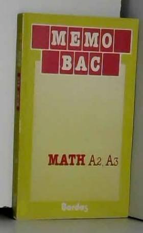 Ducos - MEMO/25 MATHS A2-A3    (Ancienne Edition)