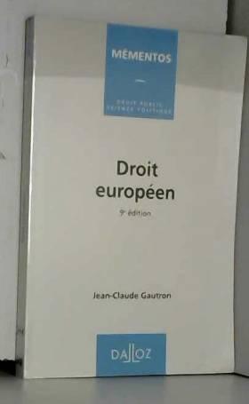 Droit européen, 9e édition