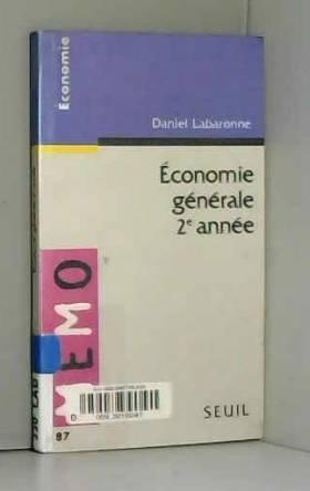 Économie générale, 2e année
