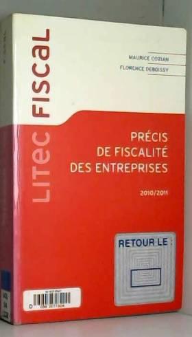 Maurice Cozian - Précis de fiscalité des entreprises 2010/2011