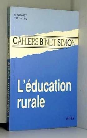 Collectif - L'EDUCATION RURALE