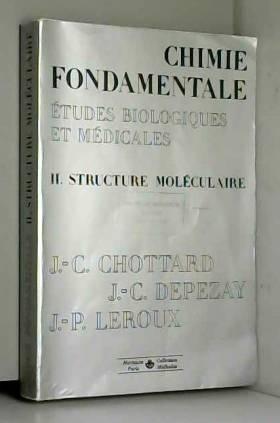 Chimie fondamentale, études...