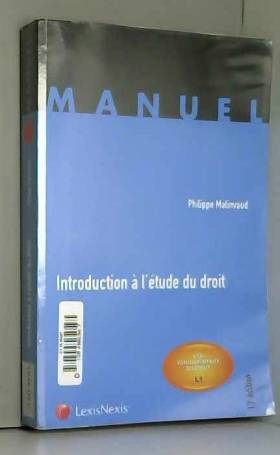 Introduction à l'étude du...