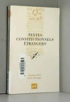 Textes constitutionnels...