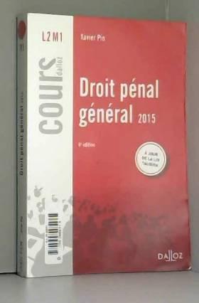 Droit pénal général 2015