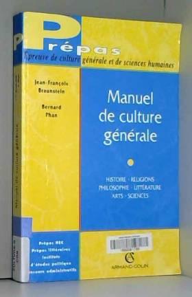 MANUEL DE CULTURE GENERALE....