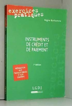 Instruments de crédit et de...