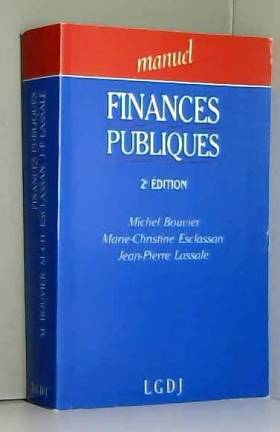 Michel Bouvier - Finances publiques