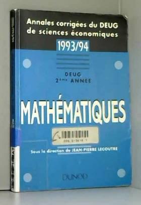 Lecoutre - Annales Corrigées Maths Deug Deuxième Annee