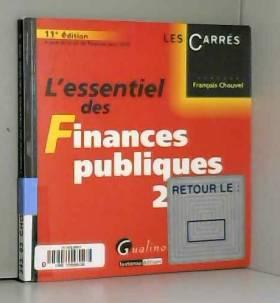 François Chouvel - L'essentiel des finances publiques 2010
