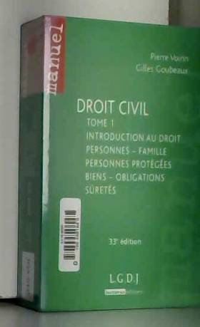 Droit civil : Tome 1 :...