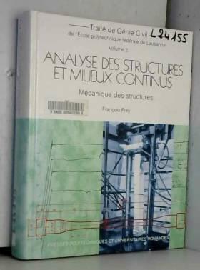 ANALYSE DES STRUCTURES ET...