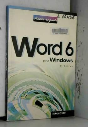 D Pillon - Word 6 pour Windows