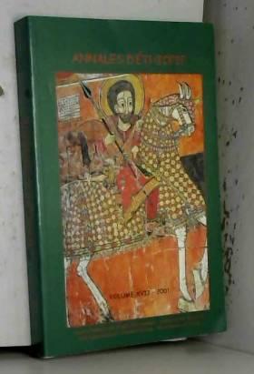 Collectif - Annales d'Ethiopie. Volume XVII, Année 2001, Aksun, Ethiopie musulmane, Etudes