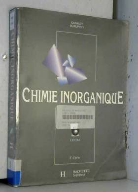 Chimie inorganique : Cours,...
